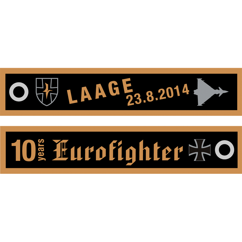 LAAGE 004 10 Years of Eurofighter Keyring