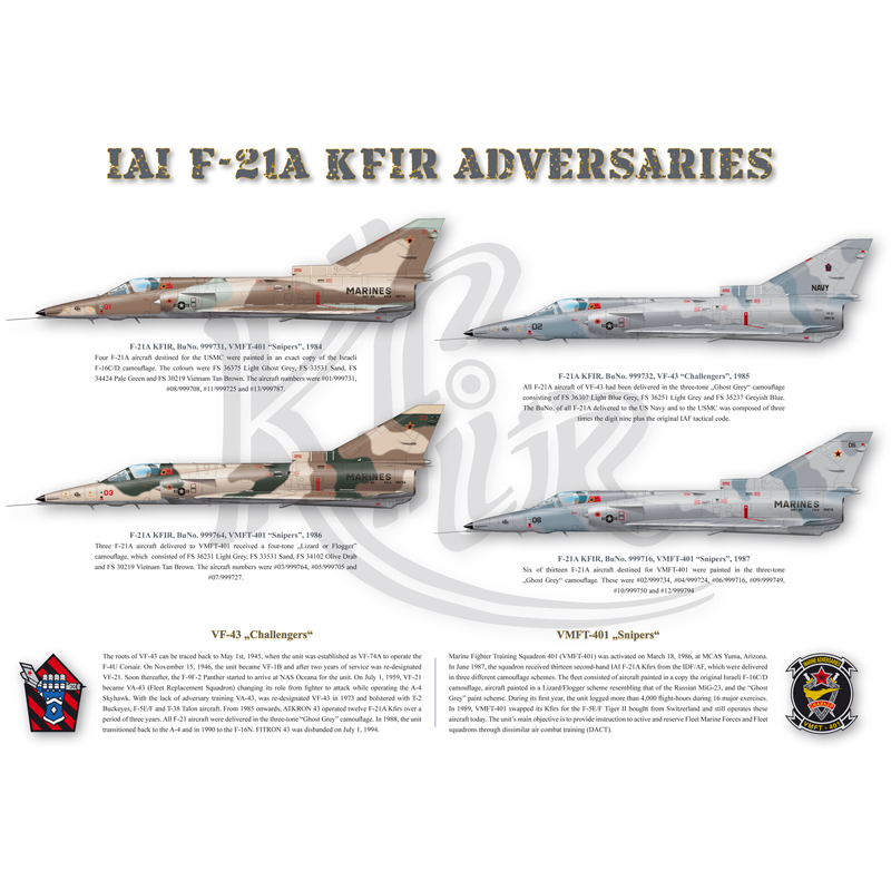 POS001 Poster F-21A Lion Adversaries