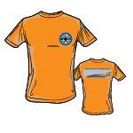 "PPW036 Children T-Shirt 37+01 ""First In – Last Out"" – orange"