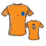 PPW033 Children T-Shirt Phantom Pharewell – with Saluting Spook – orange